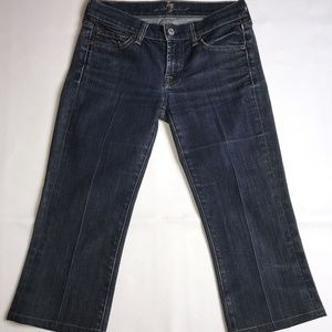 7 For All Mankind Cropped Bootcut Jeans Size 24